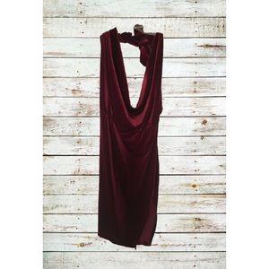 Red Velvet Halter Mini Dress